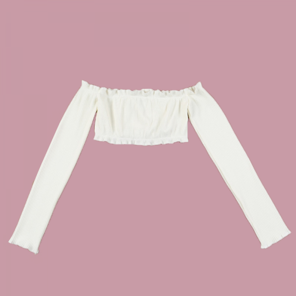 long-sleeve-ruffle-crop-top